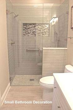 40 Modern Small Master Bathroom Renovation Ideas - Page 20 of 40 Cheap Bathroom Remodel, Cheap Bathrooms, Bathroom Renovations, Amazing Bathrooms, Bathroom Makeovers, Master Bathrooms, Restroom Remodel, Shower Remodel, Small Bathrooms