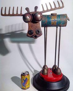 scrap metal art how to Welding Art Projects, Metal Projects, Metal Crafts, Horseshoe Projects, Diy Welding, Welding Ideas, Metal Welding, Arte Robot, Robot Art