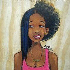 having half of your hair straightened and then realize you gotta finish the other half BLACK GIRL PROBLEMS.I'm not black but this is exactly how I feel when fixing my hair. Natural Hair Journey, Natural Hair Art, Natural Hair Styles, Natural Beauty, Natural Girls, Going Natural, Black Girl Art, Black Women Art, Black Girls