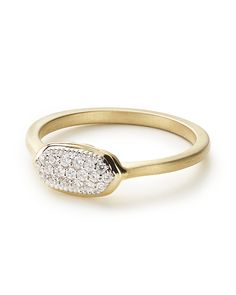 Isa Ring In Pave Diamond And 14k Yellow Gold - Kendra Scott Jewelry.