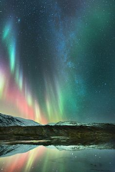 """Oh the Northern Lights<3 I wonder if God looks down at us in our making up magical dream lands in books and movies and is like, """"Beat ya!"""""""