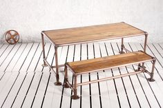 Essex Street Communal Picnic Bench Seat - Crank Furniture Co. / Boutique, Creative, Fine Quality Industrial Furniture