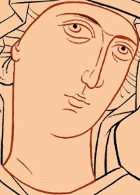 Oblicze Matki Bożej Visit the post for more. Byzantine Icons, Byzantine Art, Religious Icons, Religious Art, Writing Icon, Face Icon, Russian Icons, Religious Paintings, Catholic Art