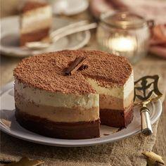 Bizcocho de chocolate con semifrío de Tiramisú Cheesecake Cake, Tiramisu Cake, Pie Cake, Sweet Recipes, Snack Recipes, Snacks, Cake Cookies, Cupcake Cakes, Muffins