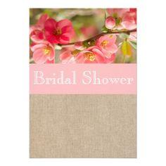 Elegant Peach Blossom Bridal Shower Invitation