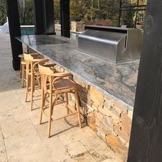 Outside Kitchen Granite Top Kitchen Tops, Granite Kitchen, Granite Tops, Type 3, Theater, Marble, Patio, Facebook, Outdoor Decor