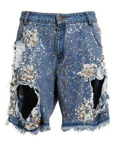 ASHISH | Sequin Embellished Denim Shorts