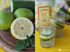 Summer cocktails: gin with cucumber and lemon Gin With Cucumber, Lemon Cocktails, Bi Tools, Growing Strong, Great Recipes, Lime, Food And Drink, Fruit, Drinks