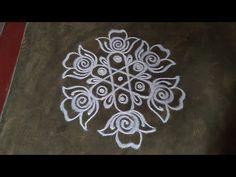 Simple Rangoli Border Designs, Indian Rangoli Designs, Rangoli Designs Flower, Rangoli Patterns, Free Hand Rangoli Design, Rangoli Ideas, Rangoli Designs With Dots, Rangoli With Dots, Beautiful Rangoli Designs