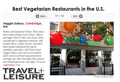 Travel&Leisure.com named Veggie Galaxy one of the Best Vegetarian Restaurants in the U.S., October 2013. www.veggiegalaxy.com