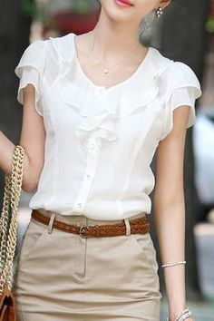 Discover cheap blouses in Silk, Pink, Red, Blue, White & Long Sleeve Cheap Blouses, Shirt Blouses, Blouses For Women, Women's Shirts, Pretty Shirts, Summer Blouses, Blouse Online, Shirts Online, Chiffon Shirt