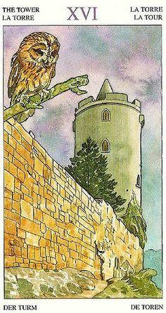 The Tower - Sorcerers Tarot