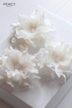 Silk hair flowers for Jules2