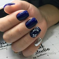 Deep Blue Nail Art Design for Winter Season; winter acrylic na… Deep Blue Nail Art Design for Winter Season; Winter Nail Designs, Winter Nail Art, Winter Nails, Nail Art Designs, Xmas Nails, Holiday Nails, Christmas Nails, Blue Christmas, Gel Nails