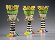 Goblets   Julia Roxburgh Ceramics   colorfull   handmadeinengland   ceramic   bestidea   tablewear