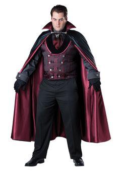 mens plus size midnight vampire costume - Halloween Dracula Costumes