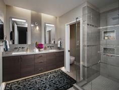 Trump Tower Piedaterre Bathroom Bath Modern by Donna Mondi Interior Design