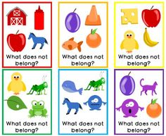 Task cards are important learning tools for children with autism and other developmental disabilities to help them to visualize concepts. These task cards focus on the concept of things that do not… Learning Tools, Learning Activities, English Activities, Preschool Learning, Toddler Activities, Whole Brain Teaching, Teaching Kids, Toddler Learning, Behavior Plans