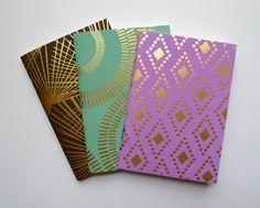 Foil Stamped Pocket Journal Notebook Set from Fine Day Press