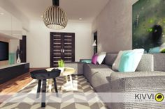 Návrh interiéru obývačky. Interiérový dizajn od Kivvi architects_Living room interior www.kivvi.sk