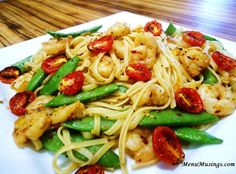 Spicy Garlic Shrimp Pasta-Made July 2013. Delicious-will def make again!