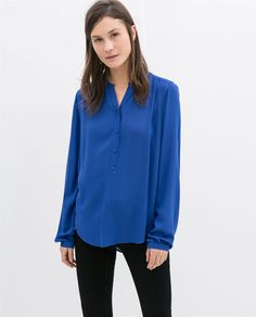 ZARA - WOMAN - BLOUSE WITH BUTTONS