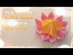 Origami Lotus Flower Tutorial - Origami Easy - YouTube
