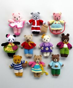 Knitting Patterns for 10 Busy Little Bears - Instructions for all the Busy Littl. Knitting Patterns for 10 Busy Little Bears - Instructions for all the Busy Little Bears - 10 small teddy bears With diff. Baby Knitting Patterns, Teddy Bear Knitting Pattern, Knitted Doll Patterns, Knitted Teddy Bear, Knitted Dolls, Knitting Toys, Knitting Ideas, Crochet Toys, Teddy Bear Patterns