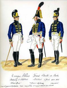 Sottufficiale, ufficiale e cannoniere di artiglieria del ducato di Baden