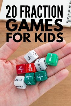 Teaching Fractions to Kids: 20 Math Games and Activities that Work - - 5th Grade Math Games, 4th Grade Fractions, Teaching Fractions, Teaching Math, Simplifying Fractions, Dividing Fractions, Fractions For Kids, Maths, Fraction Games For Kids