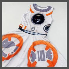 Women's Star Wars The Force Awakens BB-8 everyday cosplay style dress by Gold Bubble Clothing ⭐️ Star Wars fashion ⭐️ Geek Fashion ⭐️ Star Wars Style ⭐️ Geek Chic ⭐️