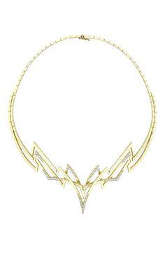 Yellow gold electra necklace by VENYX Preorder Now on Moda Operandi