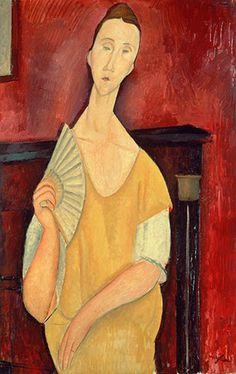 La femme a l'eventail (Lady with fan), Amedeo Modigliani