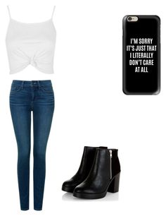 """""""Cute outfit"""" by fungiral on Polyvore featuring Topshop, NYDJ and Casetify"""