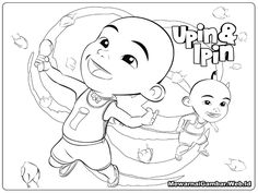 Upin Ipin Printable Coloring Pages By Stephanie