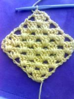 diagonally worked granny square
