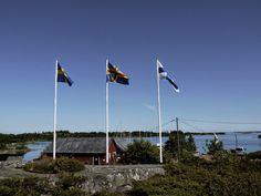 Kökar Sandvik guest harbour and Archipelago, Finland, Flags, Sweden, Sailing, Journey, Sea, Summer, Candle