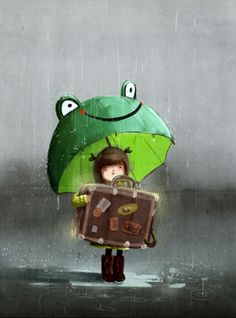 Find images and videos about cute, drawing and umbrella on We Heart It - the app to get lost in what you love. Street Art Graffiti, Art And Illustration, Art Fantaisiste, Art Mignon, Umbrella Art, Whimsical Art, Mail Art, Cute Art, Concept Art