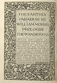 William Morris, The Earthly Paradise, published by Kelmscott Press, 1896 William Morris Art, Fancy Letters, Beautiful Calligraphy, Tapestry Fabric, Decorative Borders, Book Design Layout, Arts And Crafts Movement, Illuminated Manuscript, Lettering Design