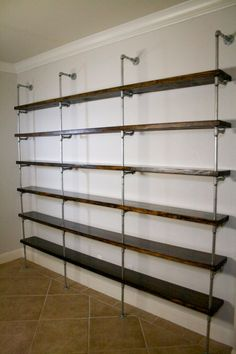 Industrial Shelving Unit, Industrial Office furniture, Office shelving, Urban pipe shelving, Metal and wood shelving by IndustrialEnvy on Etsy
