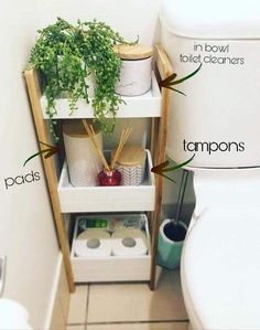 Home Interior Apartment bathroom organization idea for your first apartment in college bao almacenaje.Home Interior Apartment bathroom organization idea for your first apartment in college bao almacenaje Diy Casa, Bathroom Organisation, Storage Ideas For Bathroom, Home Storage Ideas, Cute Bathroom Ideas, Over Toilet Storage, Organized Bathroom, Bath Storage, Storage Hacks