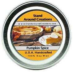 Premium 100 All Natural Soy Wax Aromatherapy Candle  2 oz Tin Pumpkin Spice A truetolife fragrance bursting with fresh pumpkin Mouthwatering notes of butter sugar and spices complete this irresistible bakery fragrance >>> You can find more details by visiting the image link.