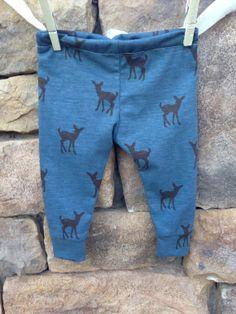 Deer baby leggings baby leggings printed by Littlenuggetnoggins, $18.00- size 3-6 months