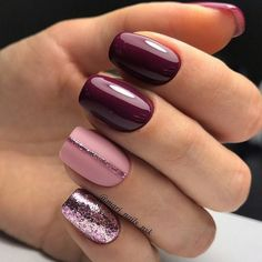 Trendy Manicure Ideas In Fall Nail Colors;Purple Nails; nails shop Nägel Ideen lila Trendy Manicure Ideas In Fall Nail Colors Light Colored Nails, Light Nails, Simple Nail Art Designs, Winter Nail Designs, Beautiful Nail Designs, Simple Art, Nail Designs For Summer, Pretty Designs, Gorgeous Nails