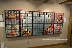 This art piece needs a permanent home.  250 individual wooden square that can be rotated to show a kid's picture, their greatest hope, and their greatest fear.  More info at eric.blogspot.com I can also make a custom piece for your company or organization using your photos.