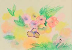 Small Paintings, Original Paintings, Original Art, Abstract Flowers, Abstract Art, Painting Flowers, Watercolor Paper, Green Watercolor, Watercolor Flowers