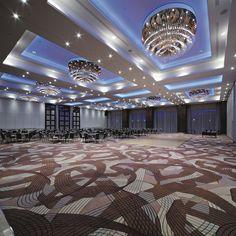 Hilton Hotel Warsaw, Poland. #conference #room #event #meeting #chandelier #changes #color #lighting #design #bohemian #crystal