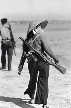 Viet Cong female soldier.