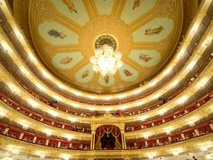 Picture of the interior of the Bolshoi Theater, Moscow, Russia