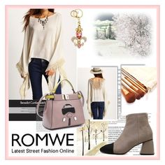 """""""ROMWE"""" by damira-dlxv ❤ liked on Polyvore featuring Balmain"""
